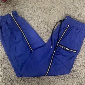 Forever 21 Pants & Jumpsuits - Royal Blue Satin Joggers